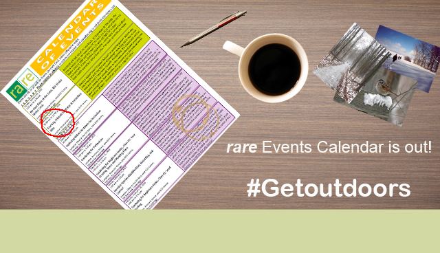 rare Events Calendar is out! #Getoutdoors, rare Logo, Calendar of Events, pen, cup of coffee, photos